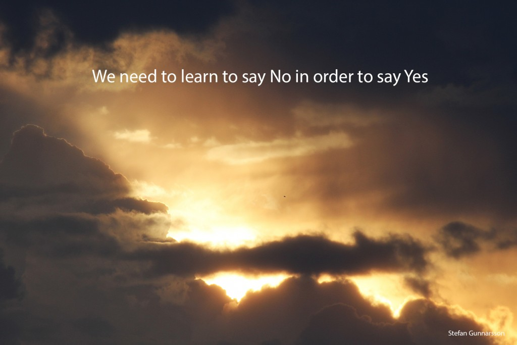 Säga nej för att säga ja ENG