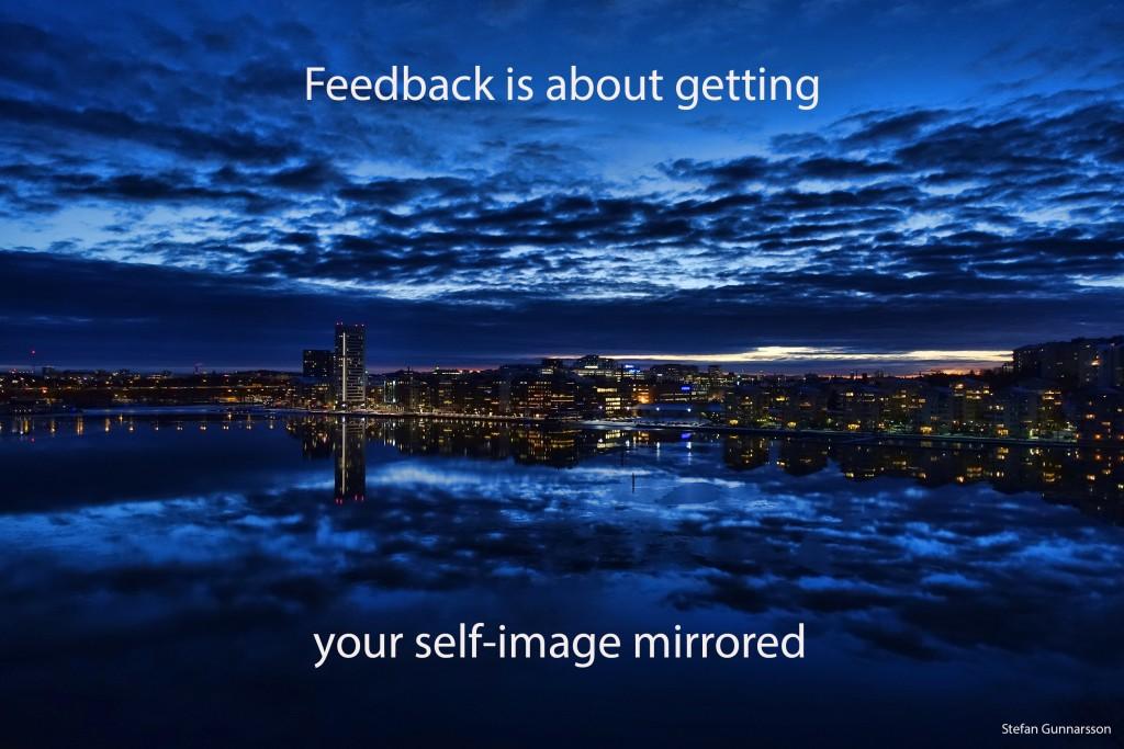 Självbild speglad engelska L