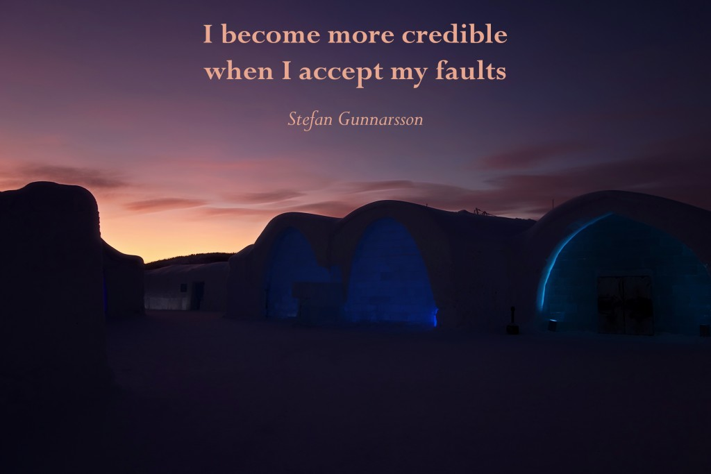 accept my faultsL